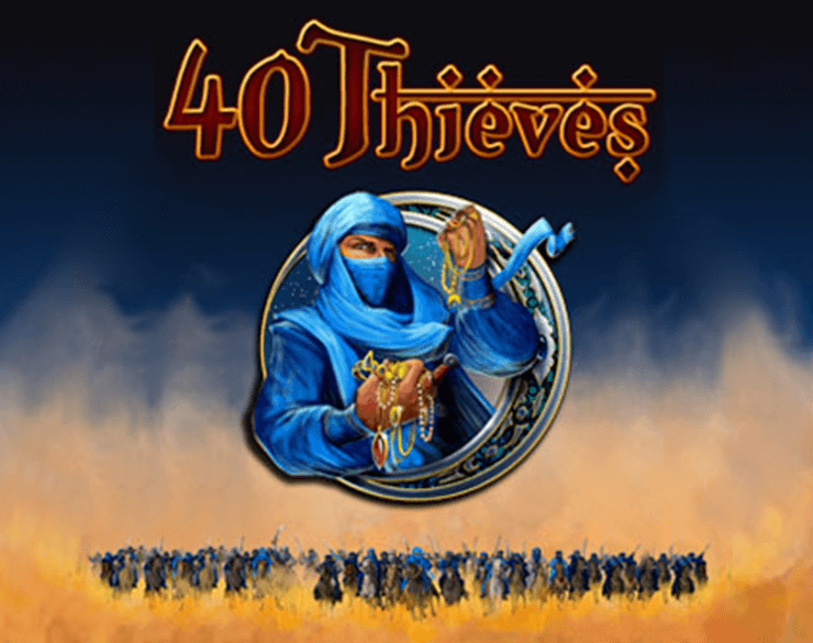 Forty Thieves slots game logo