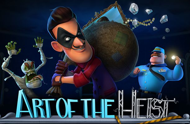Art of The Heist online slots game logo