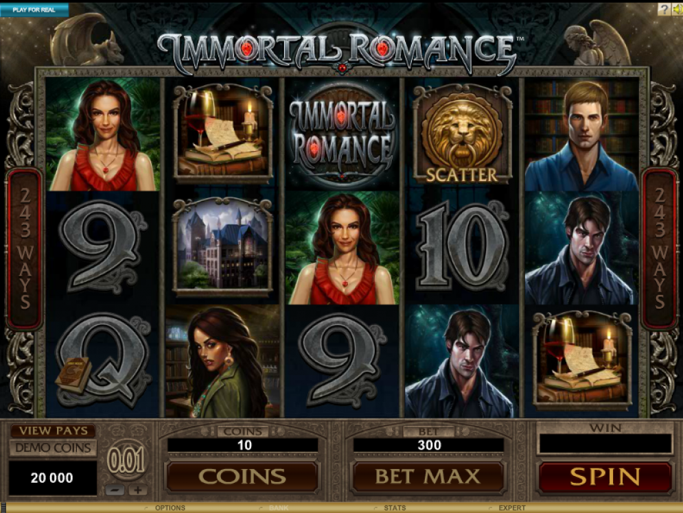Immortal Romance slots game gameplay