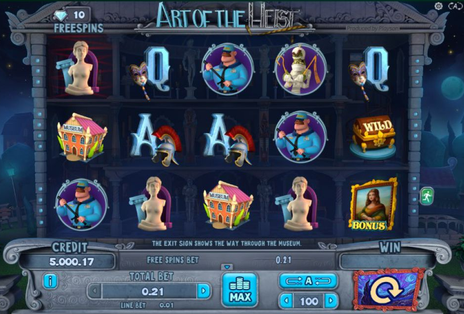 Art of the Heist Slots, online slots
