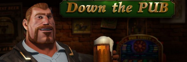 Down the Pub online slots game logo
