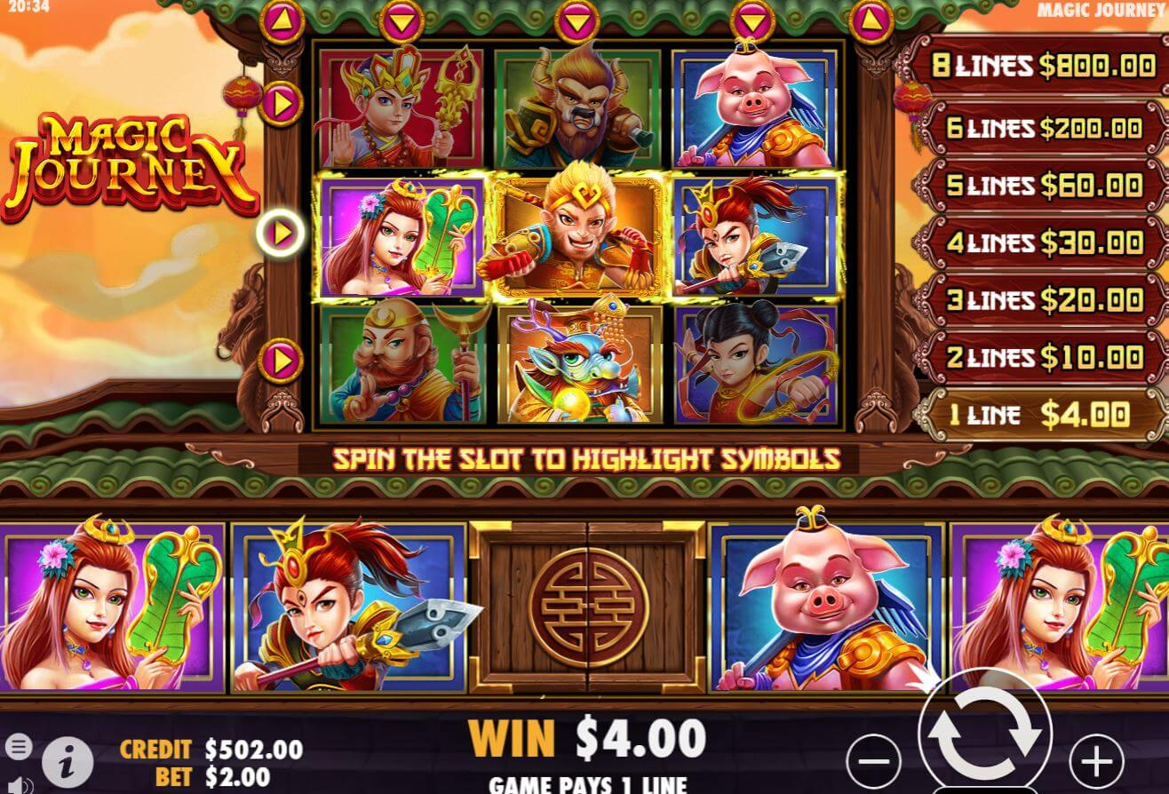 Magic Journey Slot Gameplay