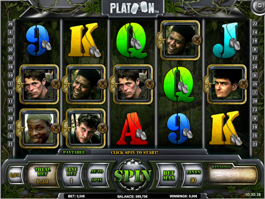 Platoon Slots Game Gameplay