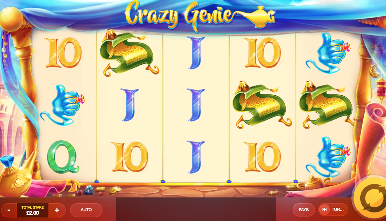 crazy genie slots game