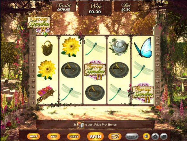 Secret Garden 2 slots gameplay