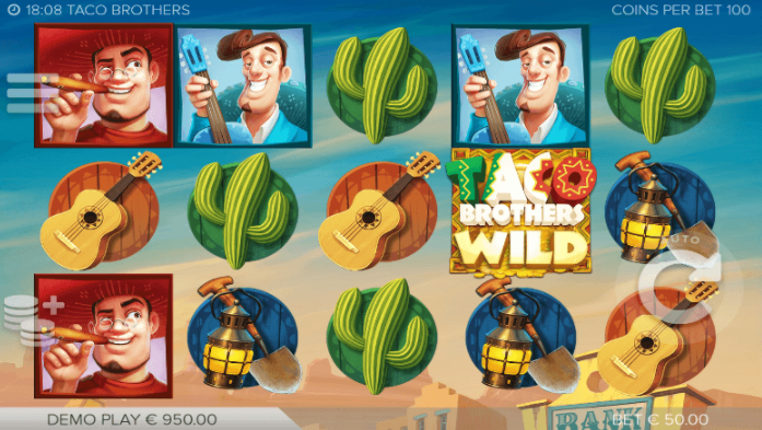 Taco Brothers Slots gameplay