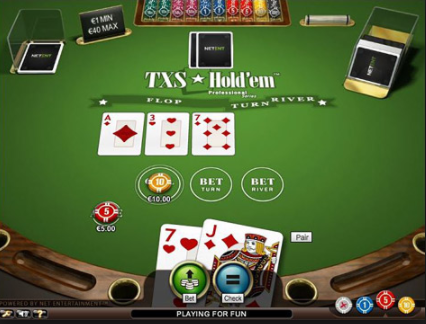 TXS Holdem Pro game screen
