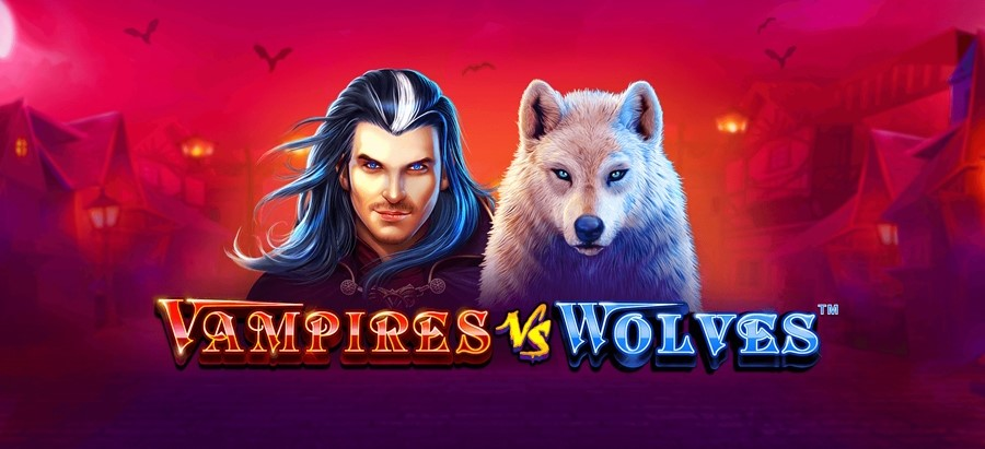 Vampires vs Wolves slot logo
