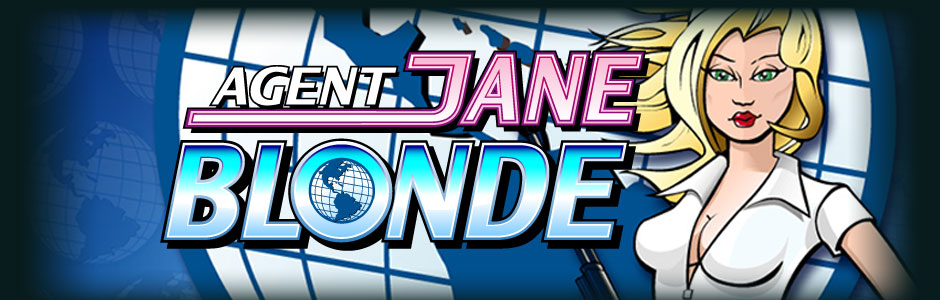 Agent Jane Blonde online slots game logo