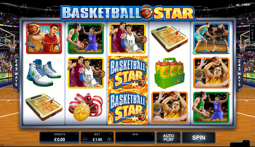 Basketball Star Slots Game gameplay