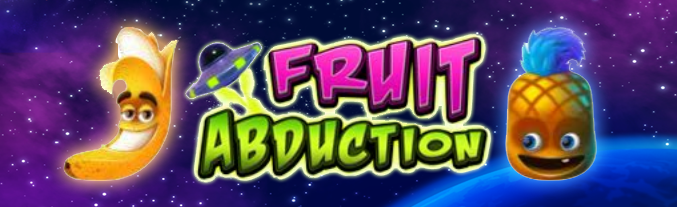 Fruit Abduction online slots game logo