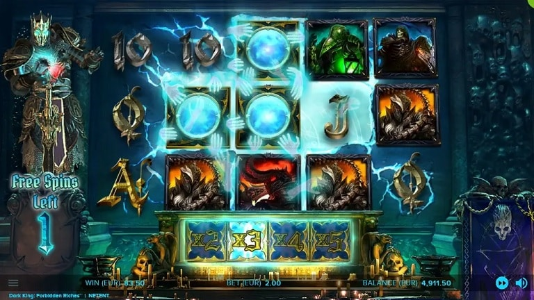 Dark King: Forbidden Riches Slots Reels