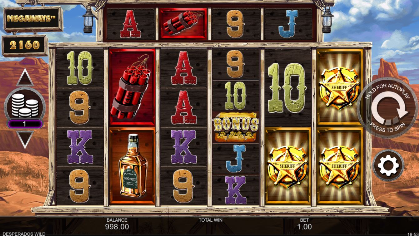 Desperado Wild MegaWays UK Slot