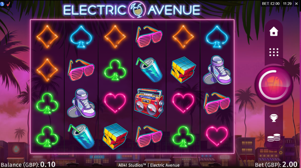 Electric Avenue Slot Game