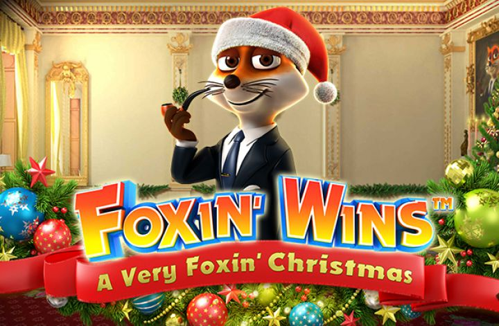 Foxin' Wins Christmas Slots Game logo