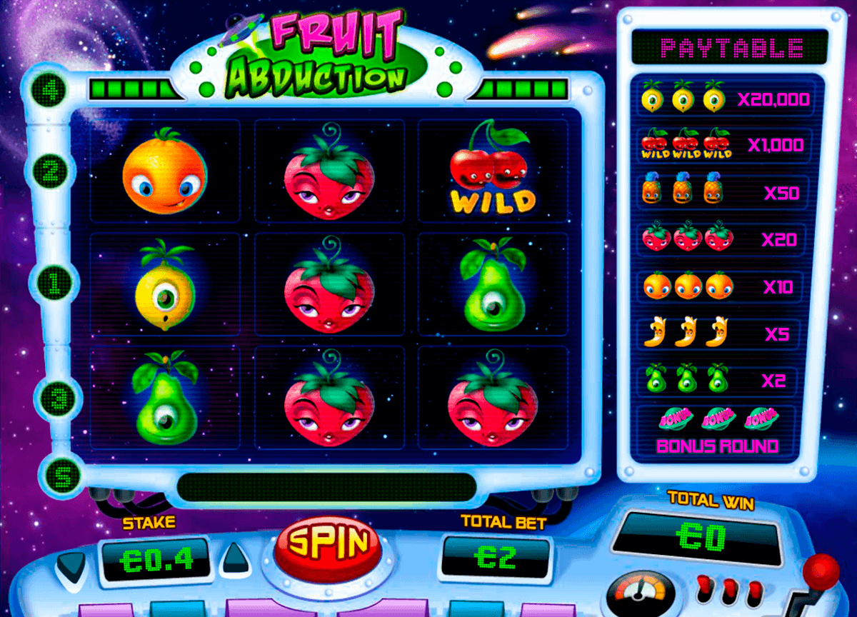 Fruit Abduction online slots game gameplay