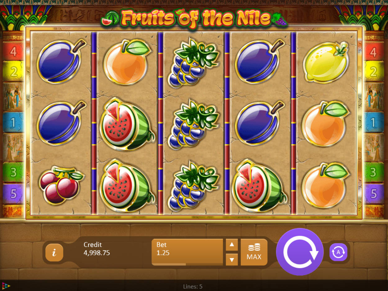 Fruits of the Nile online slots game gameplay