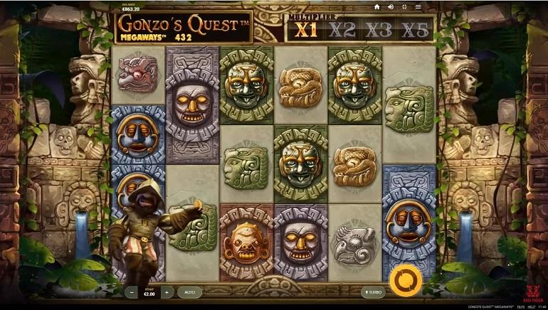 Gonzo's Quest MegaWays Slot Online
