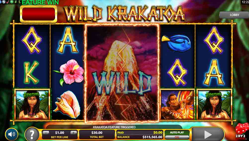 Wild Krakatoa Slot Game