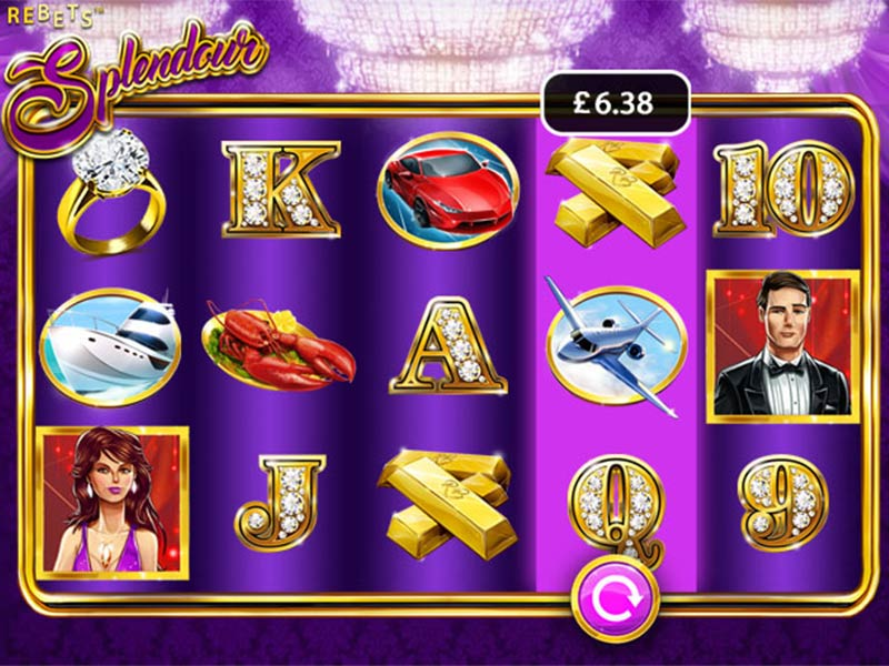 Rebets Splendour slots gameplay