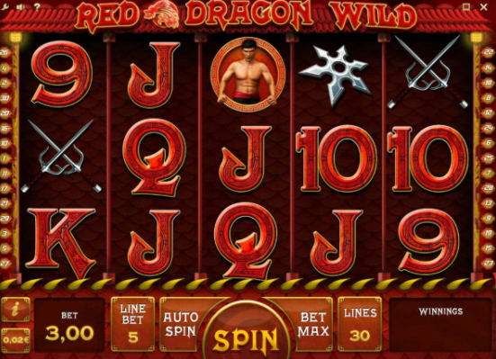 Red Dragon Wild Slots gameplay