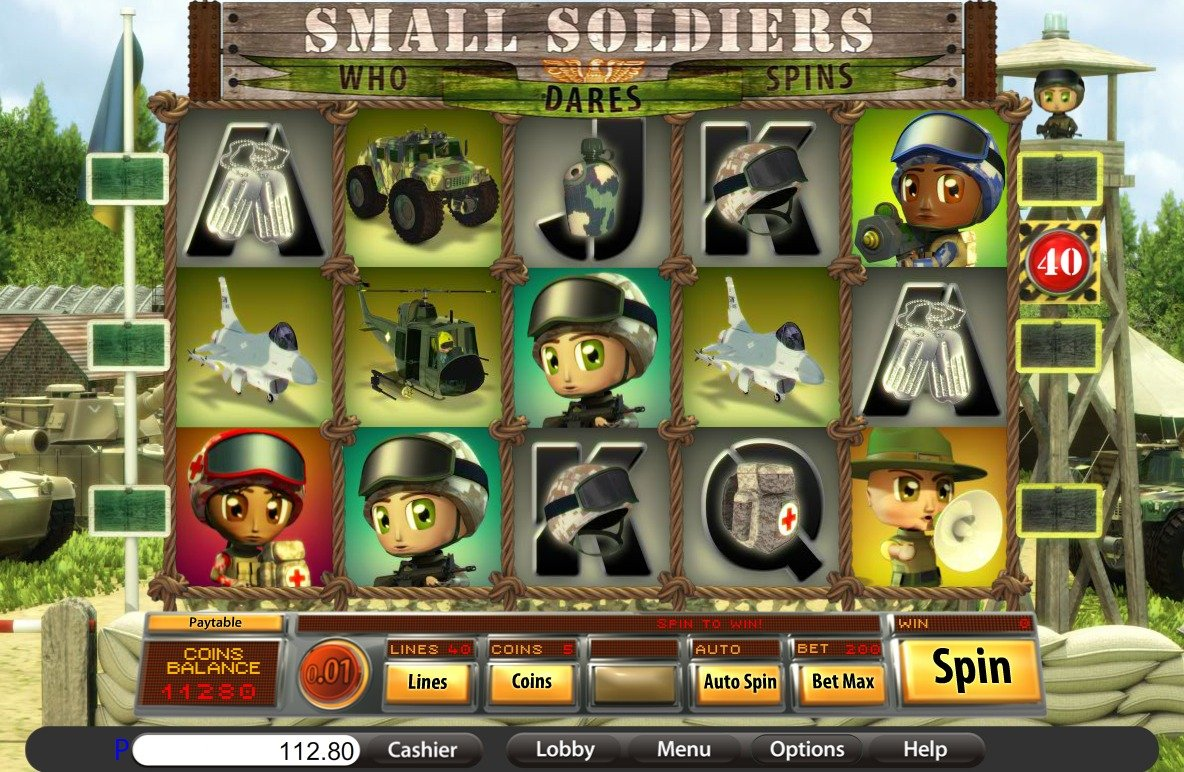 small soldiers slots game gameplay