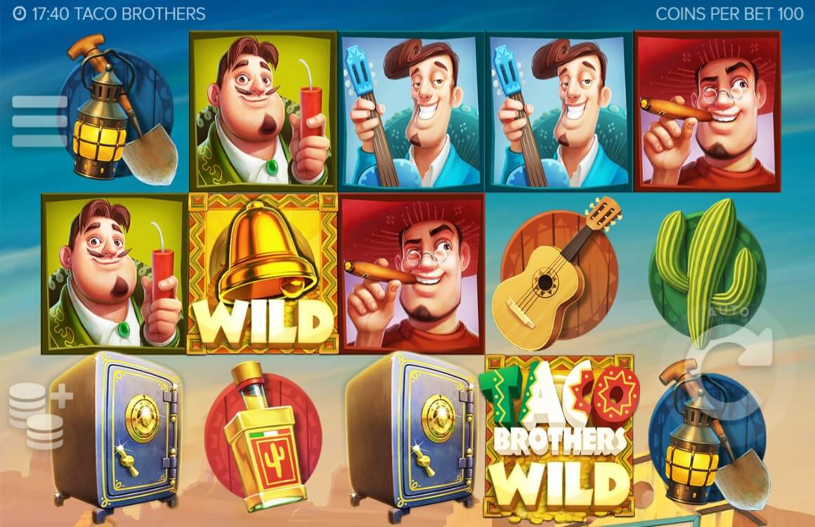 Taco Brothers online slots game gameplay screen