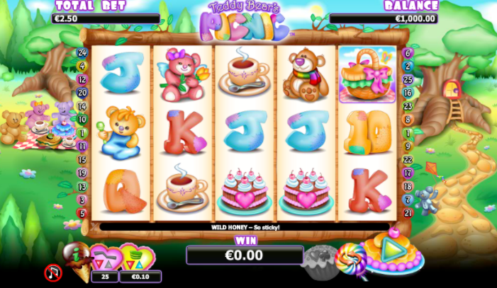 Teddy Bears' Picnic Slots gameplay
