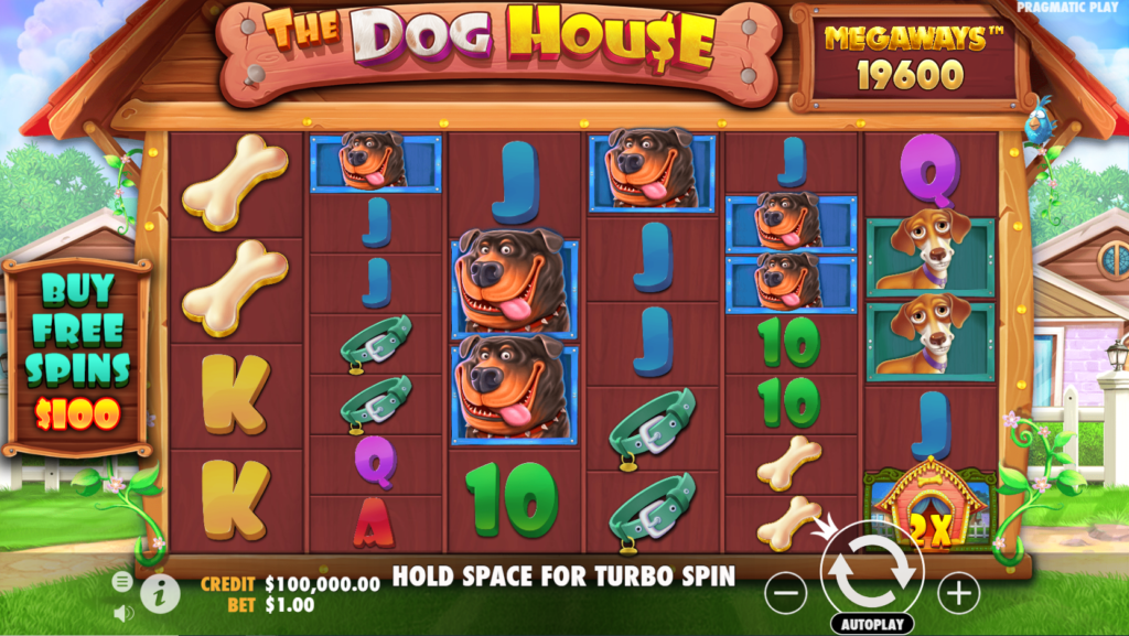The Dog House Megaways Slot Gameplay