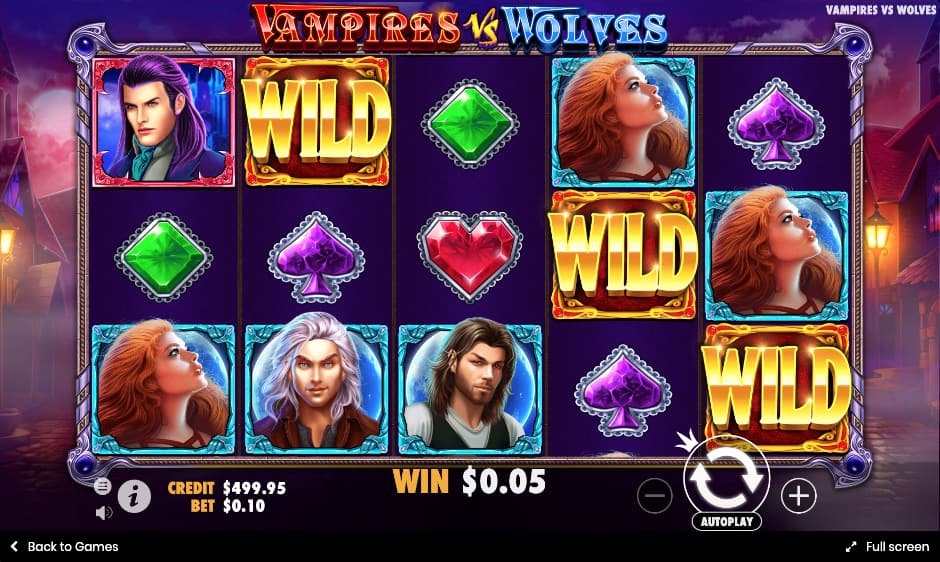 Vampires vs Wolves Game Play